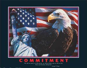 ... Bush Quote Motivational Poster - Inspirational Americana Statue of L