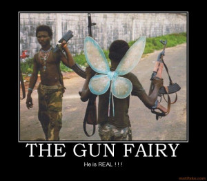 The gun fairy hilarious poster