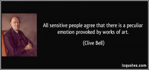 All sensitive people agree that there is a peculiar emotion provoked ...