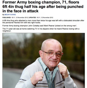 fight army military fighting news Pensioner boxing armed forces Boxer ...