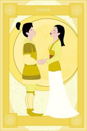 Disney Zodiac: Mulan as Gemini