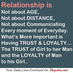 Troubled Relationship Quotes for Him | Without trust and loyalty there ...