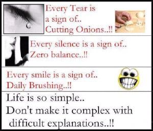 Life is so simple n heart touching thought
