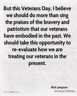 Nick Lampson Patriotism Quotes