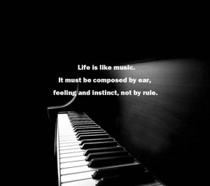 Music Quotes About Life And Love: Life Is Like Music Quote By Samuel ...