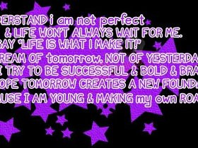 life lessons quotes or sayings photo: I am not perfect Quote ...