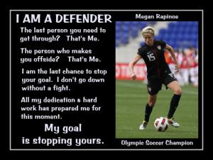 Soccer Poster Megan Rapinoe Olympic Champion Photo Quote Wall Art ...