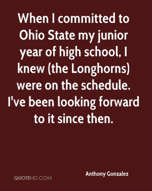 When I committed to Ohio State my junior year of high school, I knew ...
