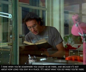 ... quote and because I love Chris (Chris Stevens, played by John Corbett