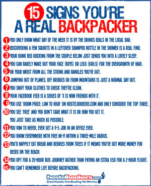 ... 15 signs youre a backpacker blog 21 Signs You're a Real Backpacker
