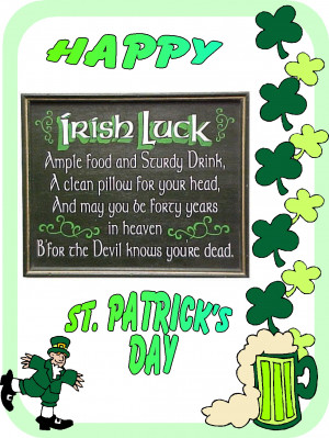 Happy St Patricks Day. Happy St Patrick's Day Funny Sayings. View ...
