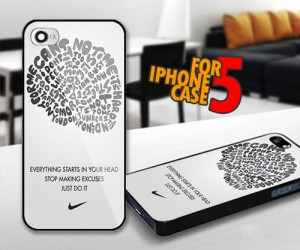 Nike Quotes Brain for iPhone 5 Black case