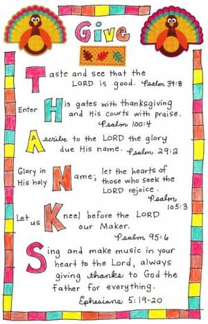 Thanksgiving verses