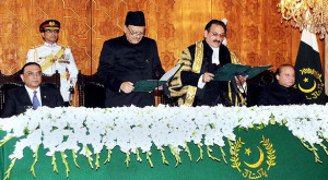Mamnoon Hussain sworn in as President of Pakistan