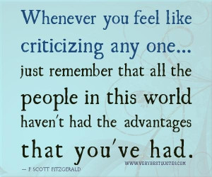 Empathy quotes criticizing quotes whenever you feel like criticizing ...