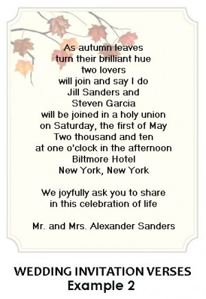 Wedding Letter Example