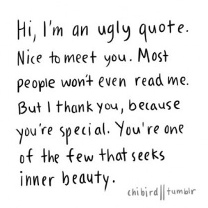 Hi, I'm an ugly quote.