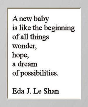 Baby Quotes and Sayings for a Newborn Boy or Girl Nursery
