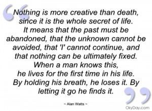 imagem nothing is more creative than death alan watts