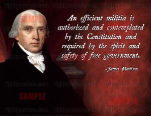 James Madison Second Amendment Quote Poster