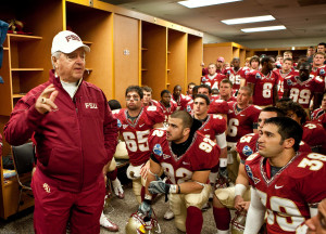 Former Florida State head football coach Bobby Bowden gives a pre-game ...