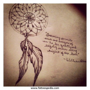 ... %20Tattoo%20With%20Quote%203 Dreamcatcher Tattoo With Quote 3