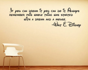 Disney Wall Sticker Quote Decal