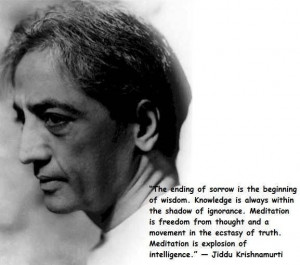 Krishnamurti quotes on meditation