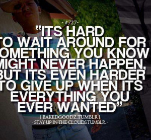 Giving Up Quotes Tumblr Picture
