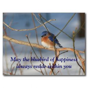 Bluebird Of Happiness Affirmation Nature Postcard