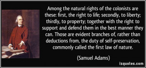 natural rights of the colonists are these: first, the right to life ...