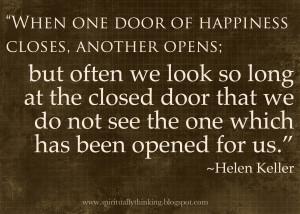 Looking for the Open Door