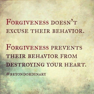 Forgiveness.....you are forgiven, but you have to turn away from ...