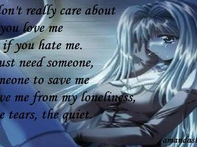 Sad Anime Quotes About Love anime sad love quotes photo: Love Me Hate ...