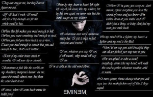 ... Eminem Recovery Song Lyrics & Rap Music Album Quotes at BlingCheese