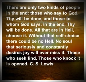 Lewis — Thy Will Be Done
