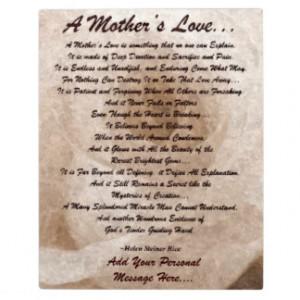 Mother's Love Placque Photo Plaques