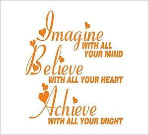IMAGINE-BELIEVE-ACHIEVE-Quotes-decal-sticker-vinyl-wall-art-home ...