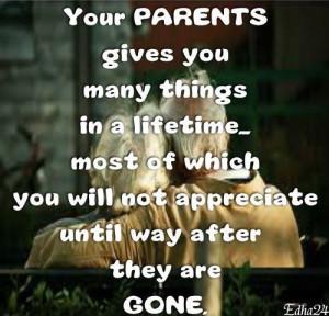 Respect your parents always
