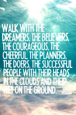travel quote, walk with the dreamers