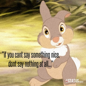 ... tags for this image include: thumper, bunny, cute, disney and quote
