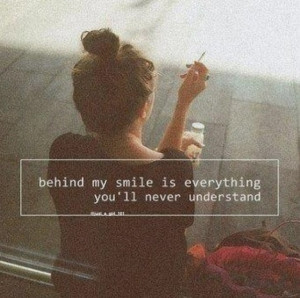 smile can hide so much!