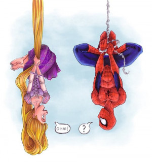 cute adorable tangled disney aw Rapunzel Spiderman drawings spider man ...