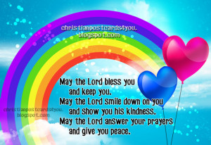 Postcard May the Lord bless you. Christian image, christian verses ...