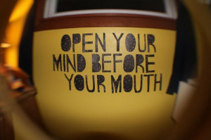 mind, open your mind, quote