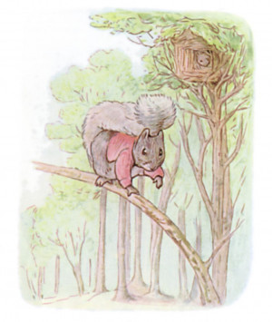 Once upon a time there was a little fat comfortable grey squirrel ...