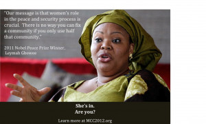 ... Leymah Gbowee, UN advisor Dr. Jeffrey Sachs and many others speak