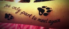 pet memorial tattoo phrases | memorial paw print tattoo for all dogs ...