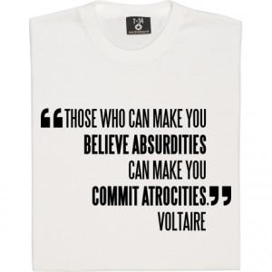 Voltaire Atrocities Quote Voltaire &
