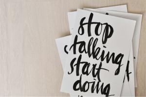 beautiful handwriting by bastisRIKE stop talking start doing